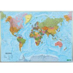 Világ országai falitérkép faléccel fóliával 1:20 000 000  202x130 cm nagy méret