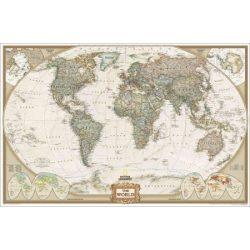 Világ országai falitérkép faléces antikolt National Geographic 117x76 angol