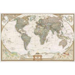 Világ országai falitérkép antikolt faléces National Geographic 186x125
