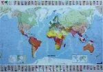 Világ országai faléces falitérkép Michelin 1:25 000 000 140x100
