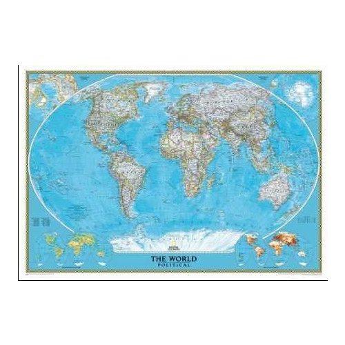 Világ országai falitérkép National Geographic angol nyelven 117x76
