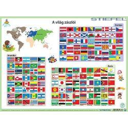 Világ zászlói asztali alátét A3 kétoldalas
