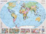 Világ országai fémléces falitérkép Stiefel 100x70 cm