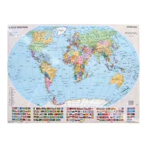 Világ országai keretes falitérkép Stiefel 100x70 cm
