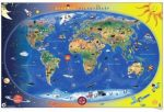 A Föld országai falitérkép, könyöklő Stiefel 65x45 cm