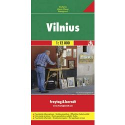 Vilnius térkép Freytag & Berndt 1:12 000
