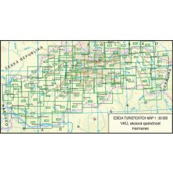 VKÚ áttekintő térkép 1:50 000