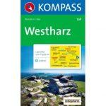798. Westharz turista térkép Kompass 1:50 000