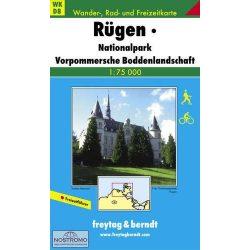 WKD 8 Rügen, Nationalpark Vorpommersche Boddenlandschaft turistatérkép Freytag 1:75 000