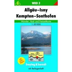 WKD 3 Allgäu-Isny-Kempten-Sonthofen turista térkép Freytag 1:50 000
