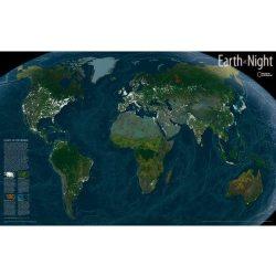 Műholdas világtérkép - a Föld térképe éjszaka National Geographic   89x56cm