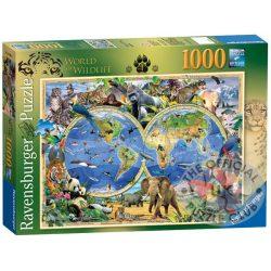 A Világ állatai Ravensburger Puzzle, kirakó 1000 db 69,9 x 49,7 cm