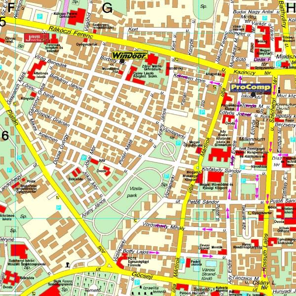 zalaegerszeg térkép Zalaegerszeg térkép, Zalaegerszeg várostérkép Térképház   Térkép  zalaegerszeg térkép