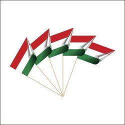 Papír zászló nyéllel, magyar zászló