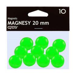 Mágneses jelölő táblamágnes 20 mm -es, kör alakú gombok - zold
