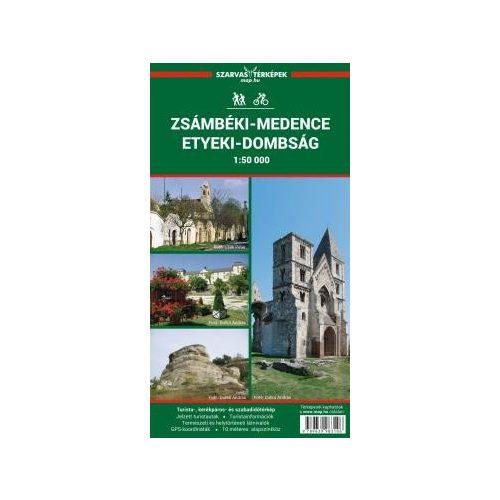 Zsámbéki-medence térkép, Etyeki-dombság 1:50.000, Budai-hegység turista térkép Szarvas A. 2019