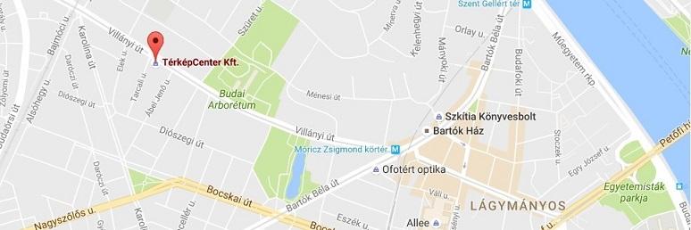 budapest villányi út térkép Térkép, földgömb, útikönyv áruház   Térkép Center Kft. Budai  budapest villányi út térkép