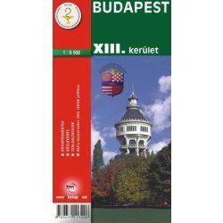Budapest XIII. kerület térkép Topopress 1:7 000 Margit-sziget térkép