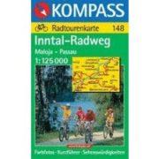 148. Inntal-Radweg kerékpáros térkép Kompass 1:125 000