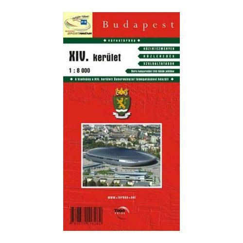 Budapest Xiv Kerulet Terkep Topopress 1 8 000 14kerulet Terkep