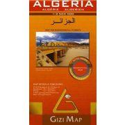 Algéria domborzati térkép Gizi Map 1: 2 500 000