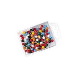 Térképtű gömbfejű vegyes színű, 5 mm-es gömbfej, 16 mm-es tű, 200 db-os