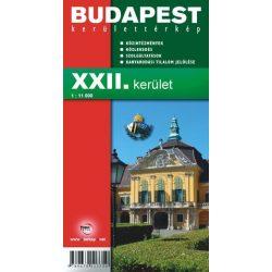 Budapest XXII. kerület térkép Budafok-Tétény Önkormányzata 1:16 500