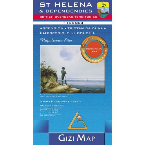 St. Helena térkép Gizi Map 2010 1:35 000
