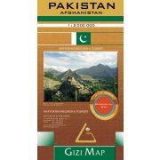 Pakistan, Afghanistan térkép Gizi Map 2010 1:2 000 000