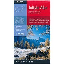 Júliai Alpok turista térkép Sidarta 1:50 000 Júliai Alpok térkép Triglav térkép 2017