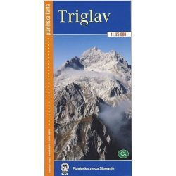 Triglav turista térkép Planinska  1:25 000