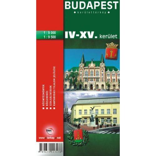 Budapest Iv Xv Kerulet Terkep Topopress 1 9 000 1 9 500 4 15