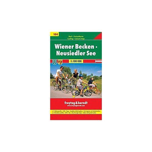 RK 104 Észak-Burgenland kerékpáros térkép Fertő-tó térkép Freytag & Berndt 1:100 000