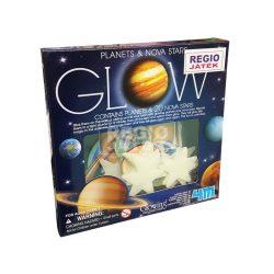 4M sötétben világító bolygó és csillag készlet, öntapadós foszforeszkáló bolygók, csillagok, naprendszer játék készlet