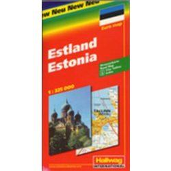 Észtország térkép Michelin 1:350 000