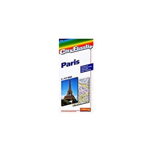 Párizs térkép Hallwag 1:17 500