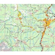 Királykő turista térkép, Öt hegység a Kárpát-kanyarból, Dimap Bt. 1:70 000