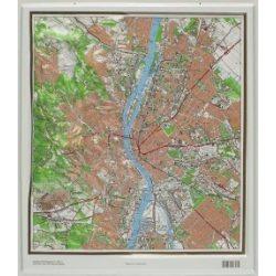 Budapest dombortérkép Magyar Honvédség 1:50 000 40x45 cm