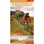 Bánát hegység, Kerékpártúrák a Bánátban   Schubert 1 : 8 000 000  2014, Bánát térkép