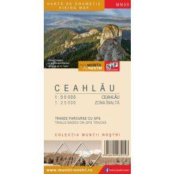 SF09 Csalhó-hegység térkép vízhatlan, Ceahlău térkép  MN09  Muntii Nostri  1:50e, környék 1:25e