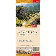 Vlegyásza térkép, Románia 1:65 000, Vlegyásza-hegység turistatérkép Schubert