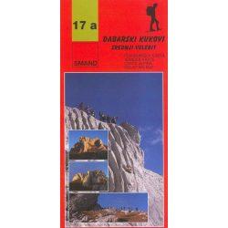 17a Dabarski Kukovi (Velebit közép) túratérkép, Srednji Velebit turista térkép Smand 2014  1:20 000