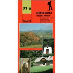 01a Medvednica turista térkép Smand 2012  1:25 000