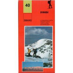 40. Dinara turista térkép Smand 2011  1:25 000