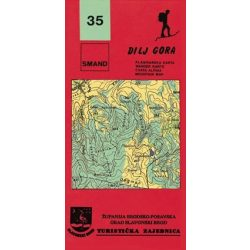 35. Dilj Gora turista térkép Smand  1:25 000