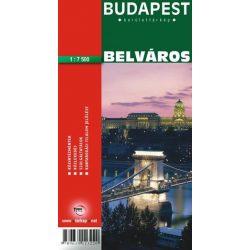 Budapest I.V.VI.VII. Kerület - Belváros térkép Topopress 1:7 500