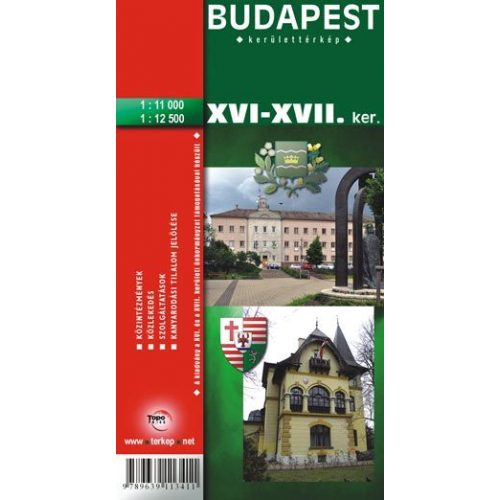 Budapest Xvi Xvii Kerulet Terkep Topopress 1 11 000 669187 16