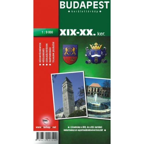 Budapest Xix Xx Kerulet Terkep Topopress 1 9 000 669190 19 20
