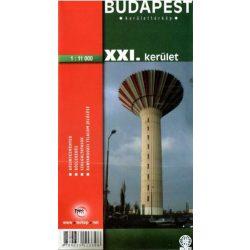 Budapest XXI.kerület térkép Topopress 1:11 000