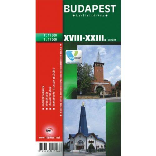 Budapest Xviii Xxiii Kerulet Terkep Topopress 1 11 000 669192 18